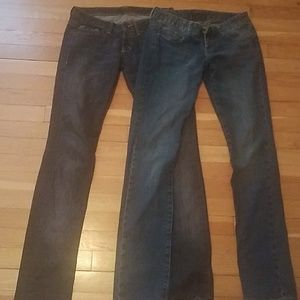 Pair of Express low rise jeans size 0